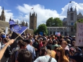 "Demonstranten beim ""March for Europe"" am 2. Juli 2016 in London"